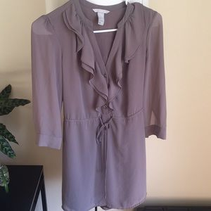 Grey sleeved dress